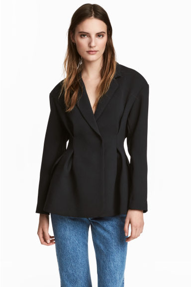 Fitted jacket - Black - Ladies | H&M CN