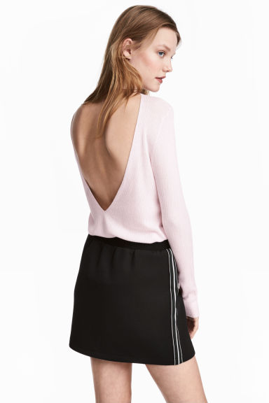 Ribbed jumper - Light pink - Ladies | H&M CN