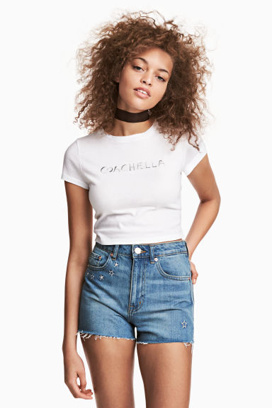 Korte top - Wit - DAMES | H&M NL