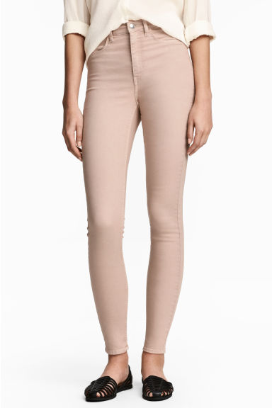 Super Skinny High Jeans - 米色 - Ladies | H&M CN