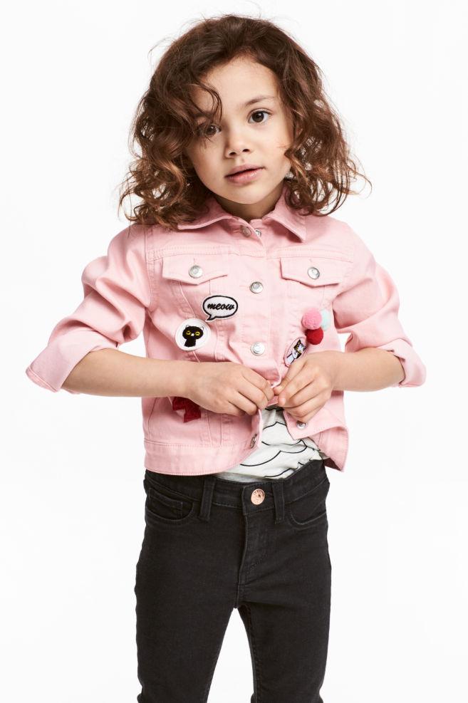 4ba25e0dff61 Denim jacket with appliqués - Light pink - Kids