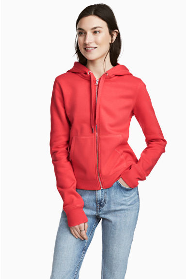Hooded jacket - Red - Ladies | H&M CN