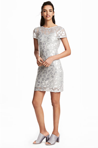 Sequined dress - Silver - Ladies | H&M