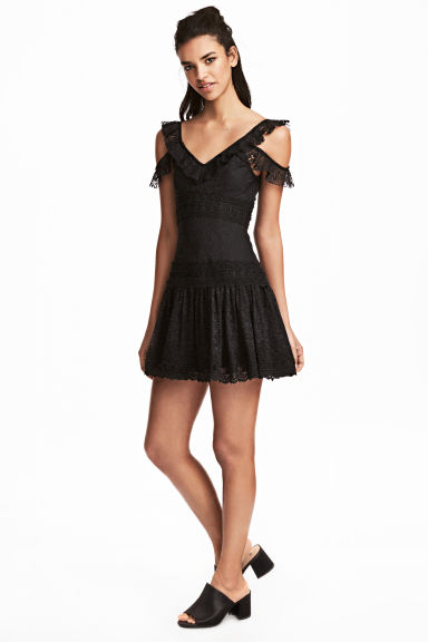 Lace dress - Black -  | H&M