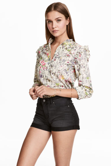 Short denim shorts - Nearly black -  | H&M
