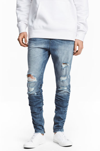 Slim Low Joggers - Niebieski denim - ON | H&M PL