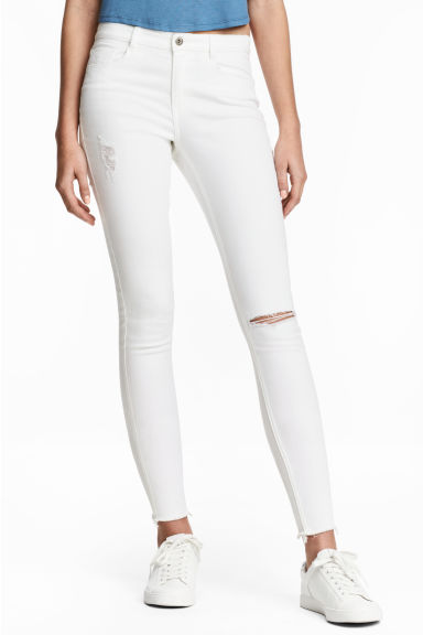 Skinny Regular Ankle Jeans - Denim blanco -  | H&M ES