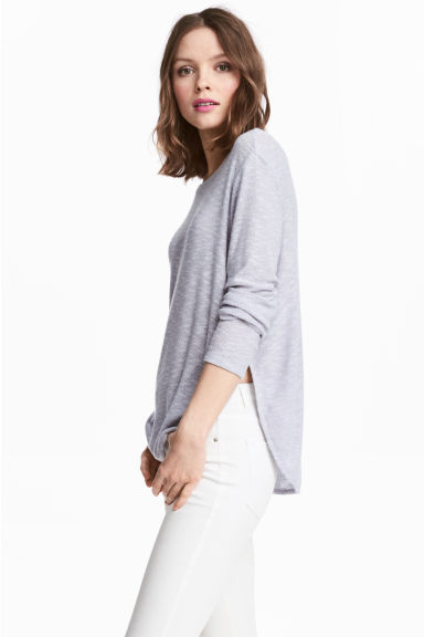 Fine-knit jumper - Grey -  | H&M CN