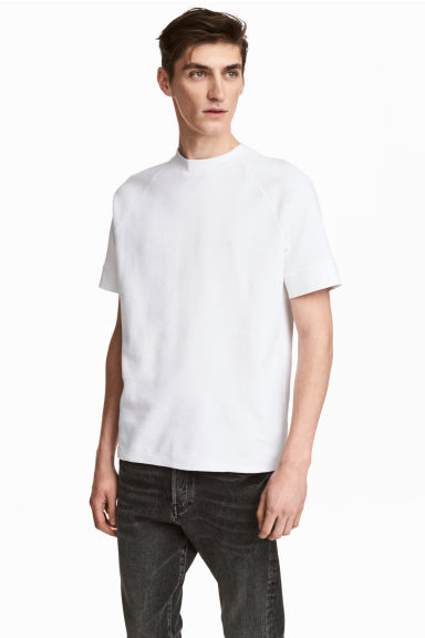 Waffled T-shirt - White -  | H&M