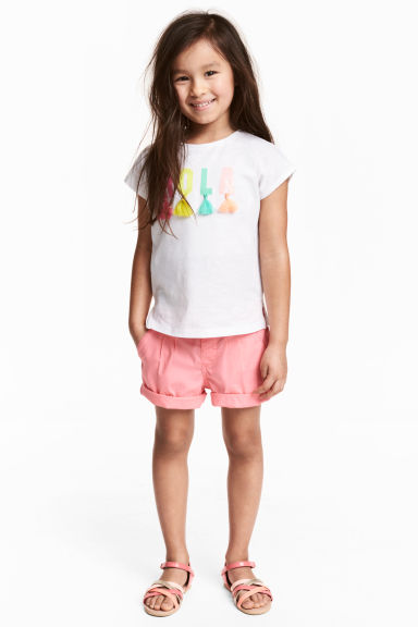 Cotton shorts - Pink - Kids | H&M CN