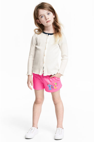 Printed shorts - Cerise/My Little Pony - Kids | H&M CN