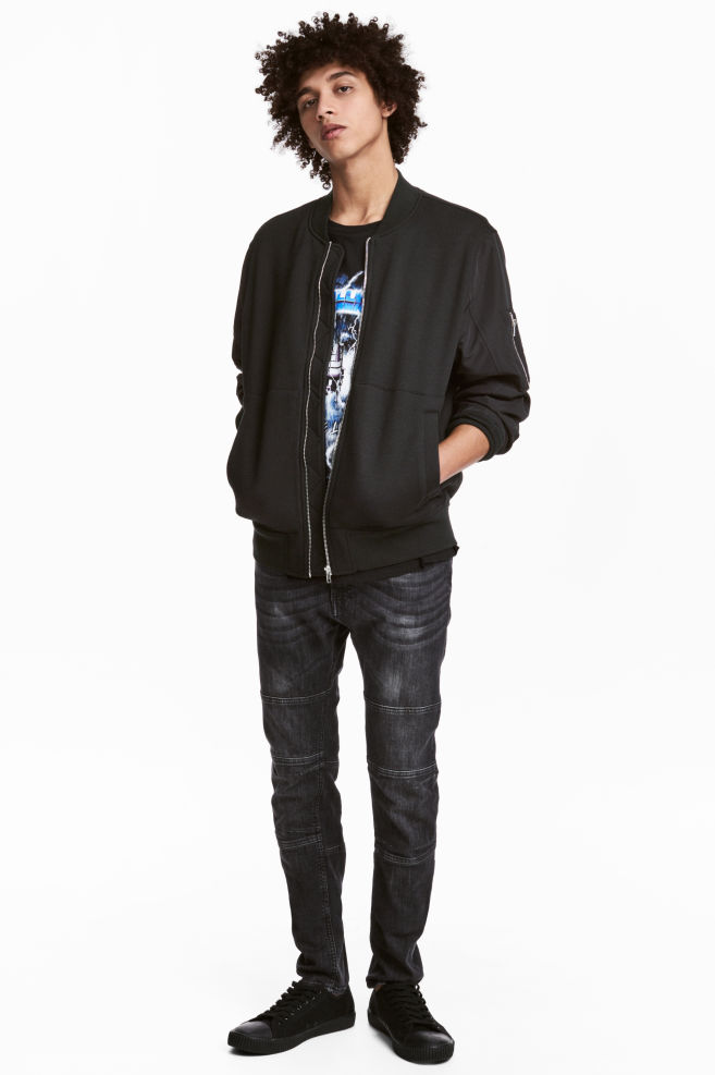 03a52fba Skinny Tapered Jeans - Dark grey washed out - Men | H&M ...