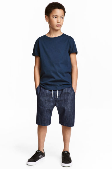 Denim shorts - Dark denim blue - Kids | H&M