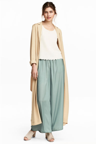 Wide trousers - Dusky green -  | H&M