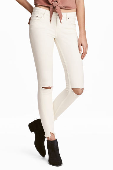 Slim Low Jeans - Wit -  | H&M NL