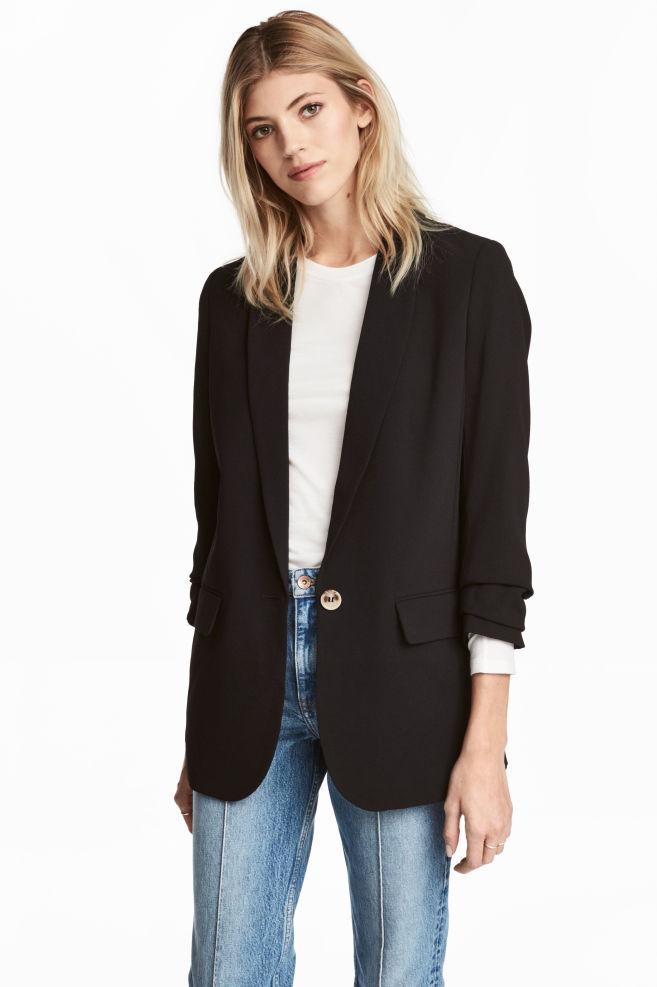 15b28214b3 Blazer long - Noir - FEMME   H&M ...