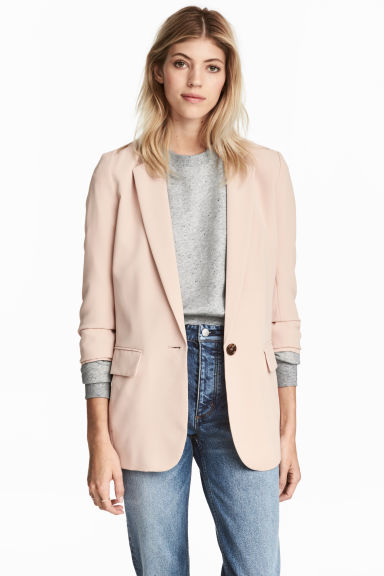 Long jacket - Powder pink - Ladies | H&M GB