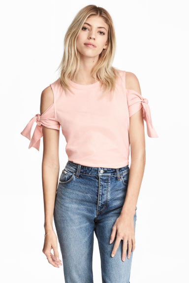 Jersey top - Powder pink - Ladies | H&M