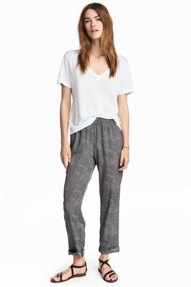Pull-on broek - Zwart/stippen - DAMES | H&M BE