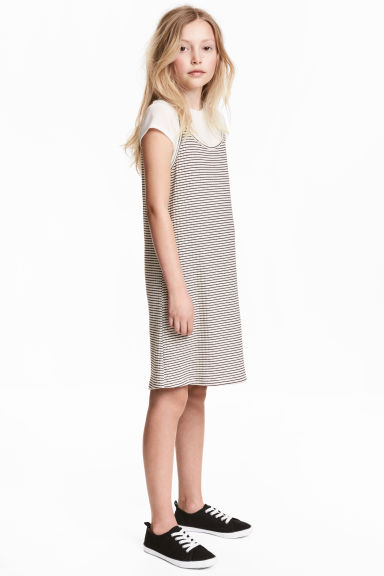 Dress and top - White/Black striped - Kids | H&M