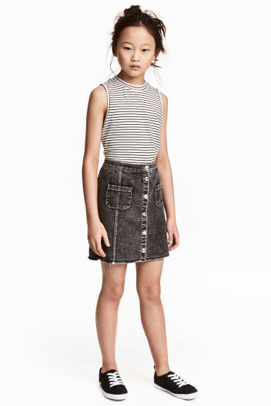 A-mallinen hame - Tummanharmaa washed out -  | H&M FI