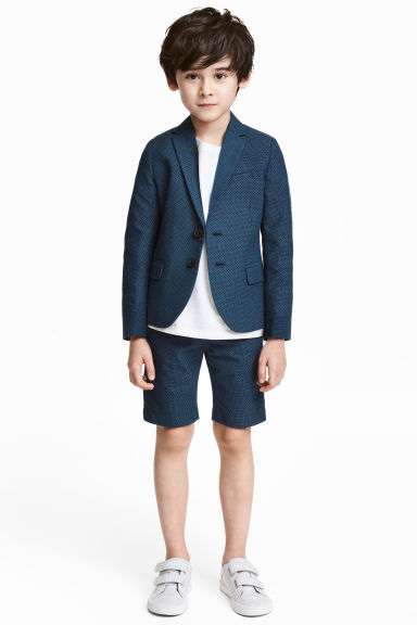 Chino shorts - Dark blue/Spotted - Kids | H&M CN