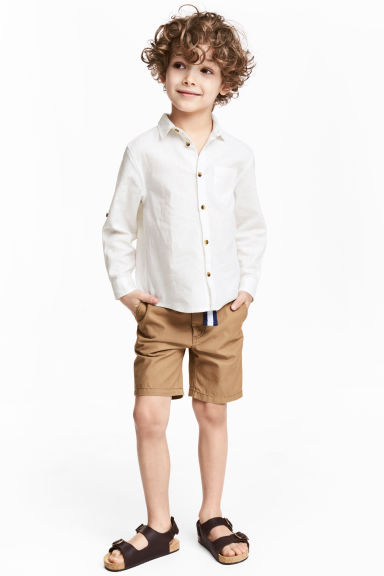 Shorts with a belt - Camel - Kids | H&M IE