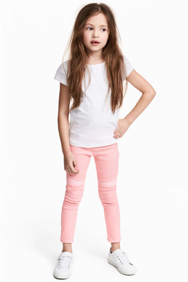 Treggings with sequins - Pink - Kids | H&M CN