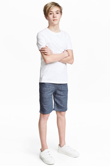 Shorts in felpa - Blu scuro/righine -  | H&M CH