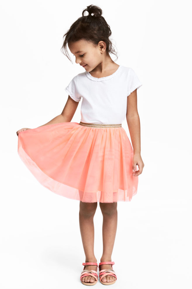 4ad55e0bf Tulle skirt - Coral pink - Kids | H&M ...