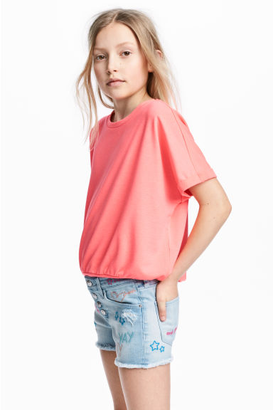 Wide top - Coral pink -  | H&M