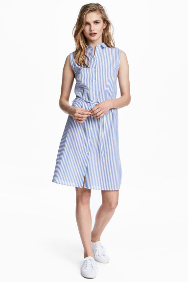 Shirt dress - Blue/Striped -  | H&M IE