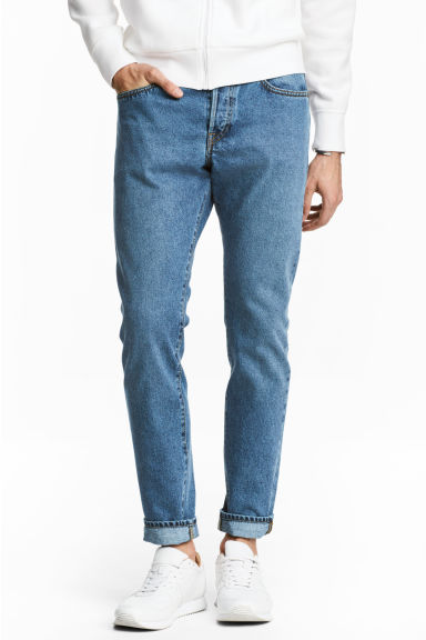 Slim Regular Tapered Jeans - Denim blue - Men | H&M GB