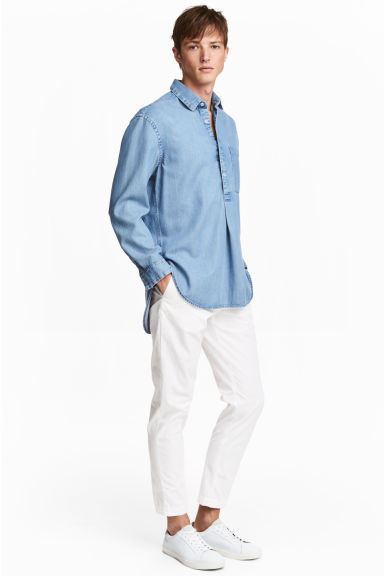 Cotton chinos - White -  | H&M CN