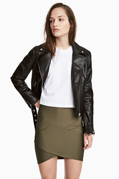Fitted skirt - Khaki green -  | H&M
