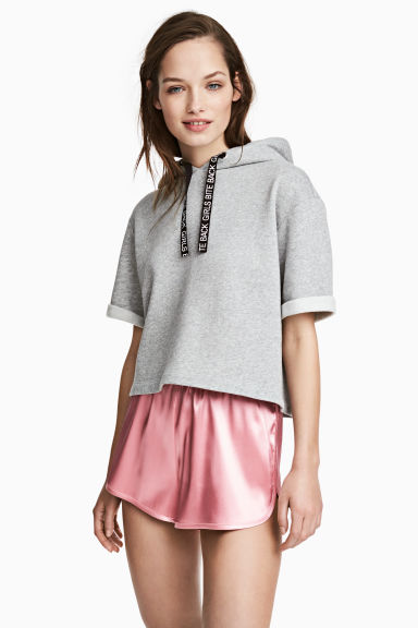 Satin shorts - Light pink - Ladies | H&M