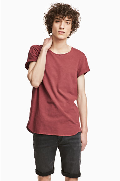 Tricot T-shirt - Steenrood - HEREN | H&M NL