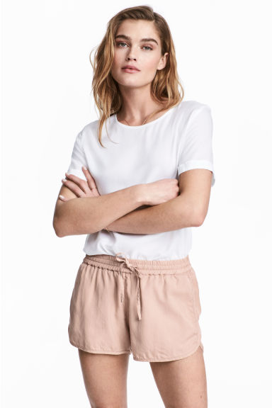 Shorts in lyocell - Rosa cipria - DONNA | H&M IT