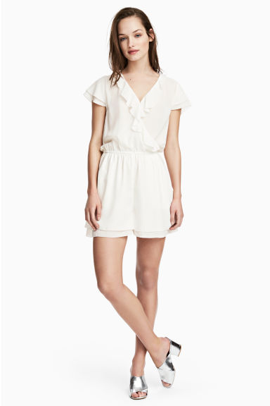Playsuit - White -  | H&M CN