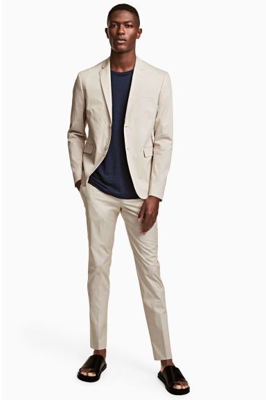 Pantalon de costume Slim fit - Beige clair - HOMME | H&M BE