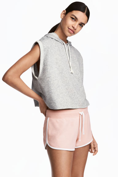 Sweatshort - Poeder - DAMES | H&M BE