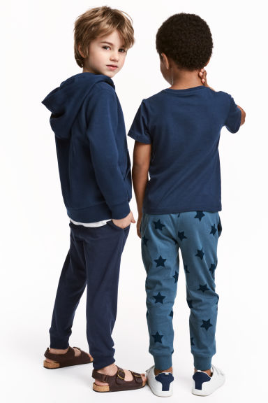 2-pack joggers - Blue/Star - Kids | H&M