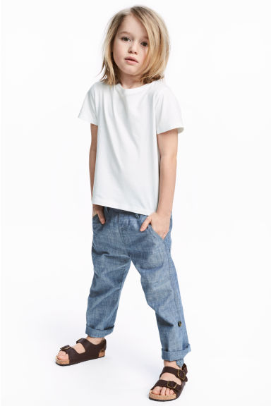 Trousers - Blue/Chambray - Kids | H&M CN
