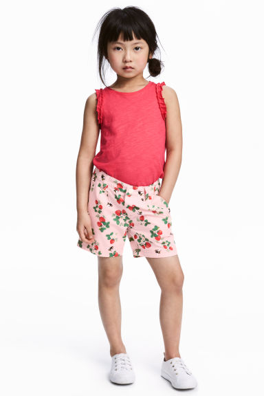 Cotton shorts - Pink/Strawberries -  | H&M