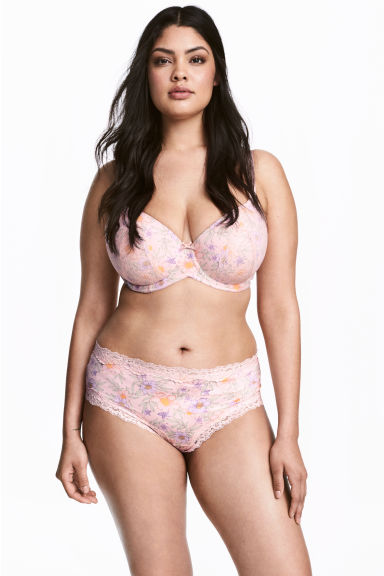 H&M+ 2-pack hipster briefs - Light pink/Floral - Ladies | H&M CN