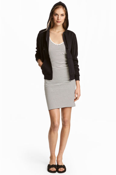 Jersey dress - Natural white/Striped - Ladies | H&M CN