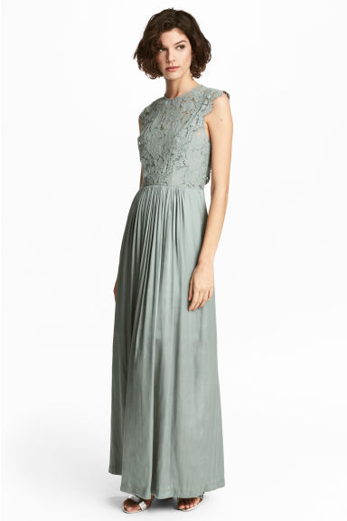 Maxi-jurk - Nevelgroen -  | H&M BE