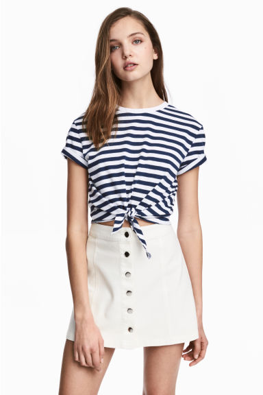 A-line skirt - White - Ladies | H&M