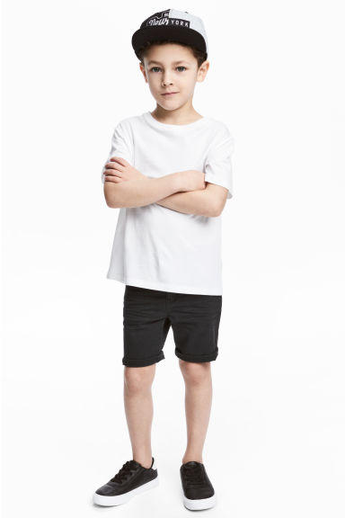 Twill shorts - Nearly black -  | H&M CN