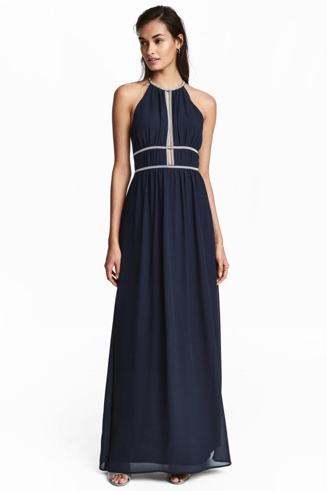 Robe longue - Bleu foncé - FEMME  9bfdced15c0